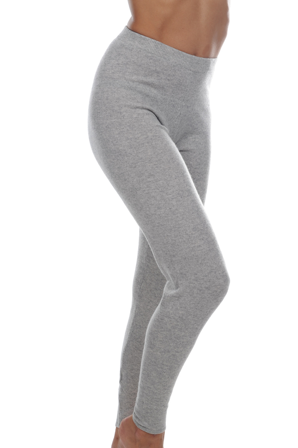 cashmere ladies trousers  leggings xelina flanelle chine m