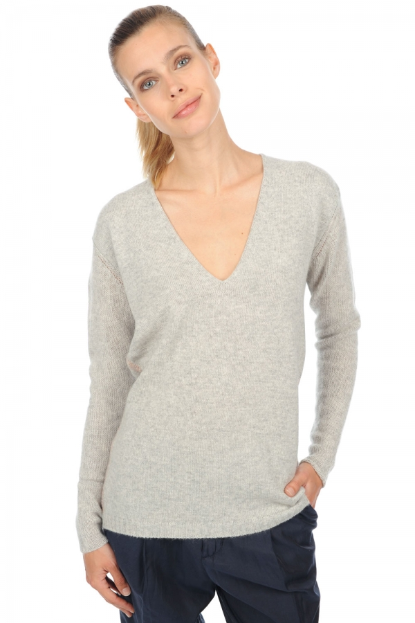cashmere ladies v necks adalyn flanelle chine s