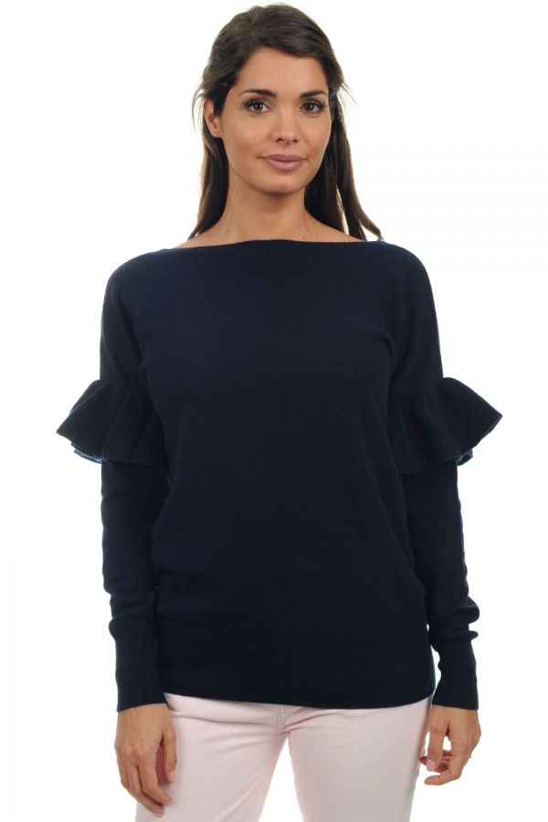 cashmere ladies v necks aphrodite dress blue l