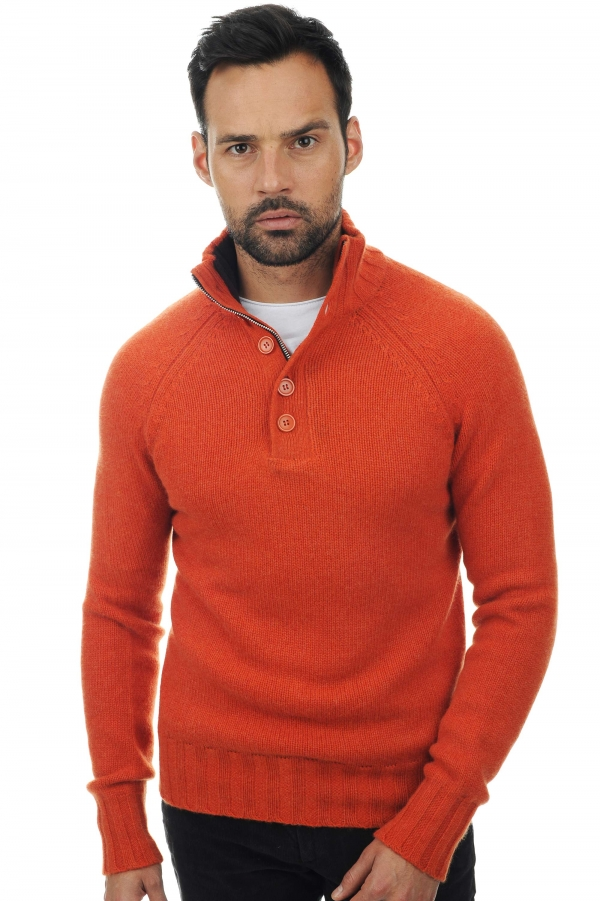 cashmere men polo style sweaters lewis paprika capuccino xxl