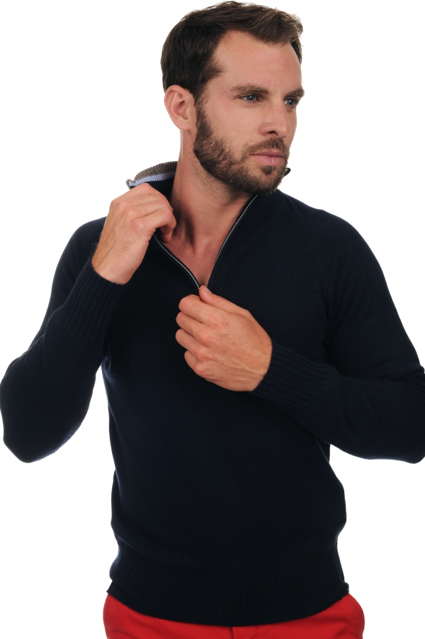 cashmere men polo style sweaters vadim dress blue s