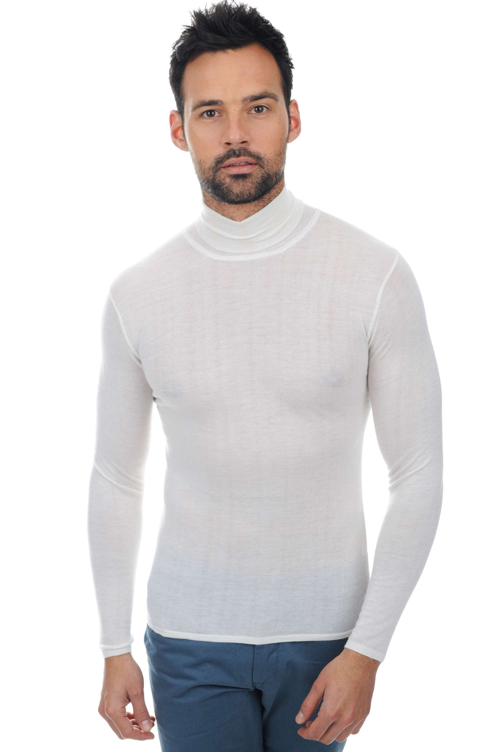 Cashmere Duvet men roll neck bixente off white m