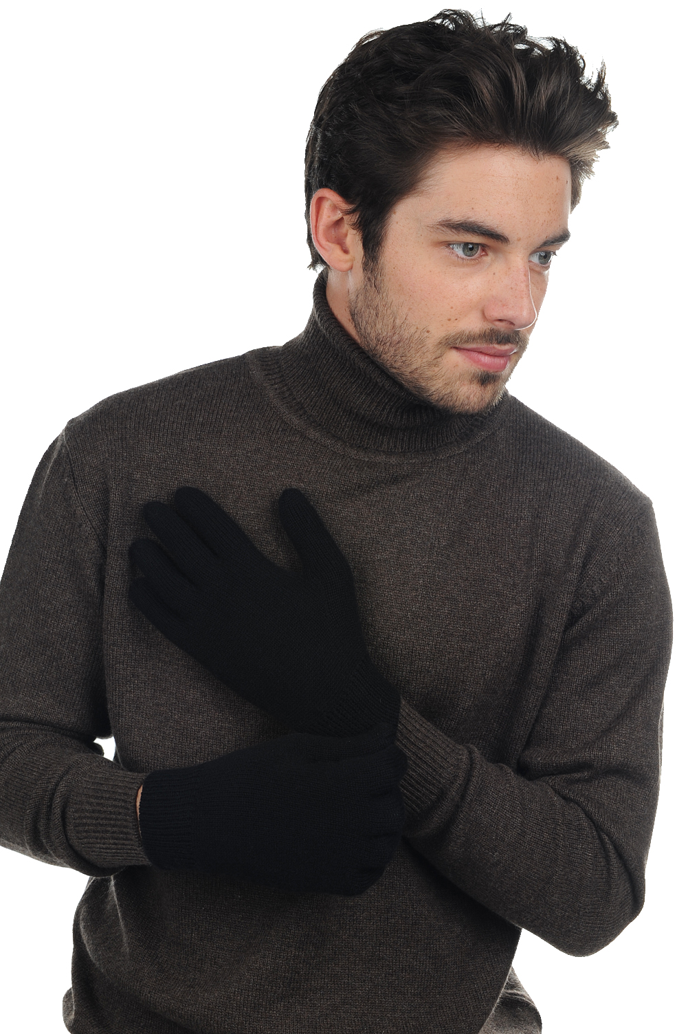 Cashmere accessories gloves manous black one size