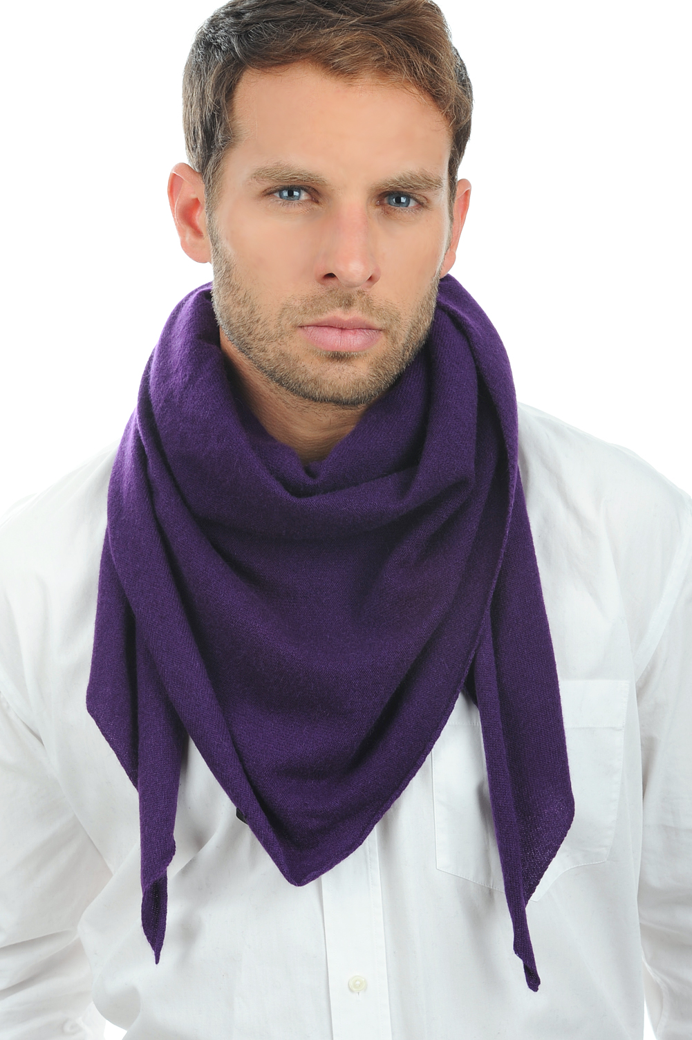 Cashmere accessories scarf mufflers argan bright violette one size