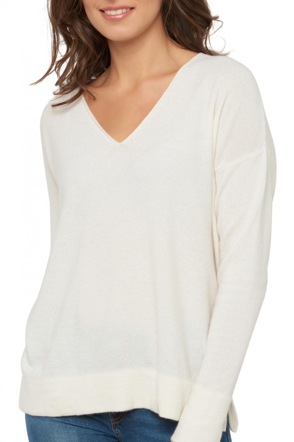 Cashmere ladies exclusive gersende off white s