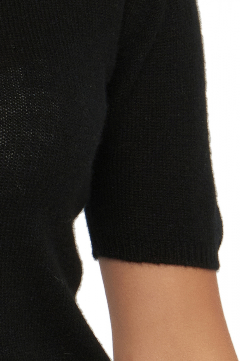 Cashmere ladies round necks livia black s