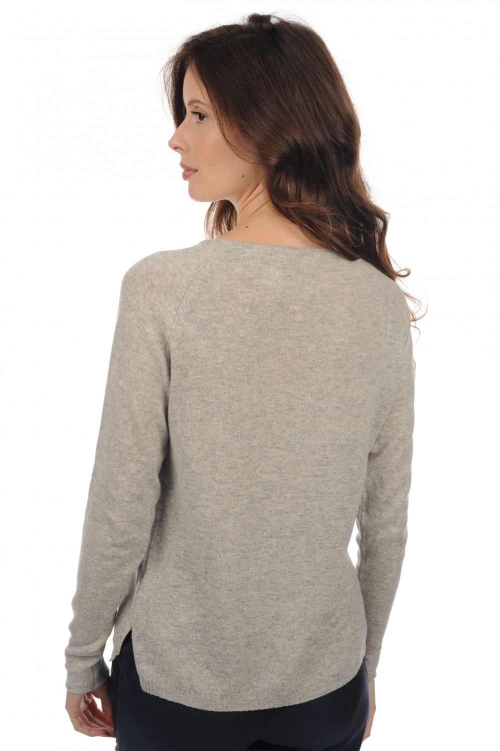 Cashmere ladies round necks myrcella flanelle chine s