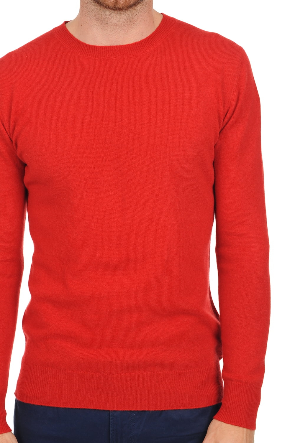 Cashmere men basic sweaters at low prices tao ultra red xl