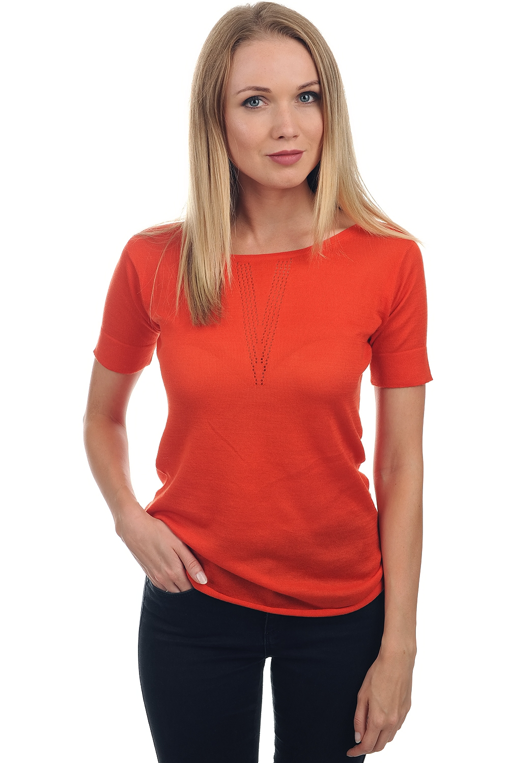 Cotton Giza 45 ladies round necks whitney brick s