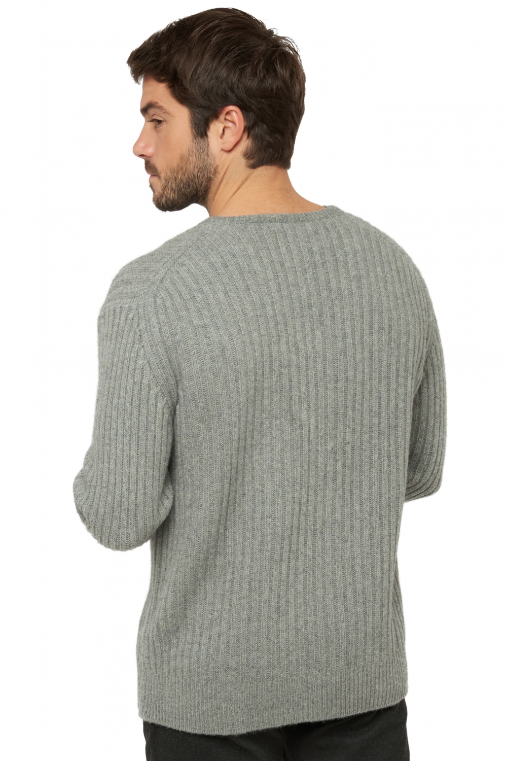Yak men v necks maester silver l