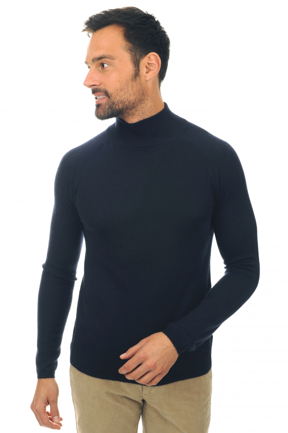 cashmere duvet men polo necks paoli dress blue xl