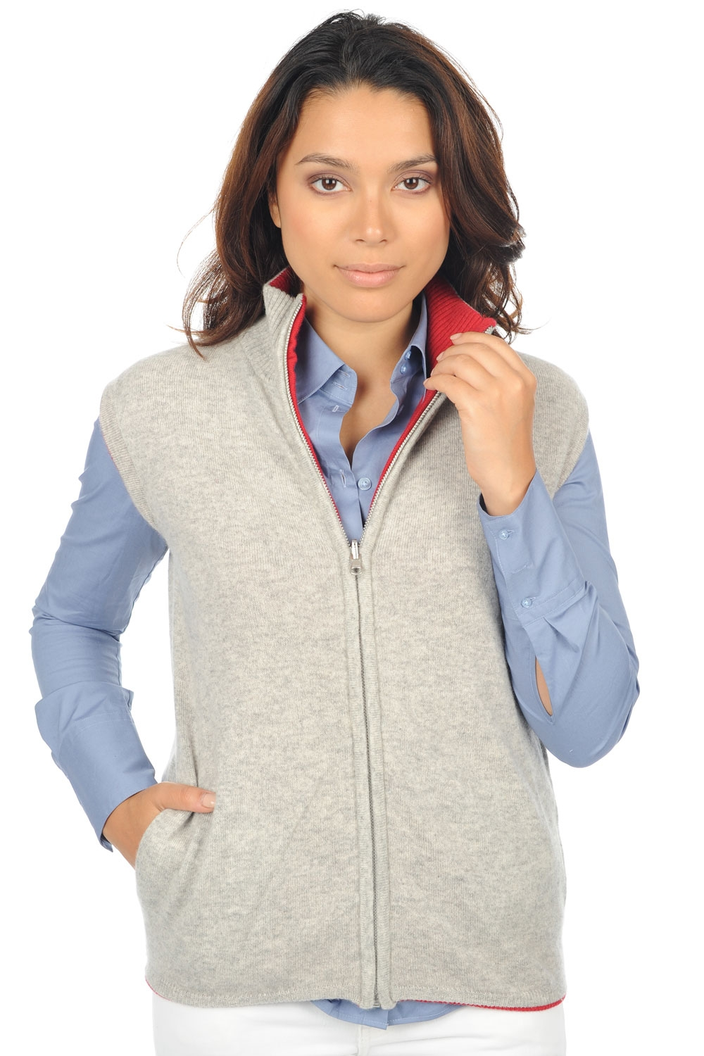 cashmere ladies cardigans alana flanelle chine blood red s