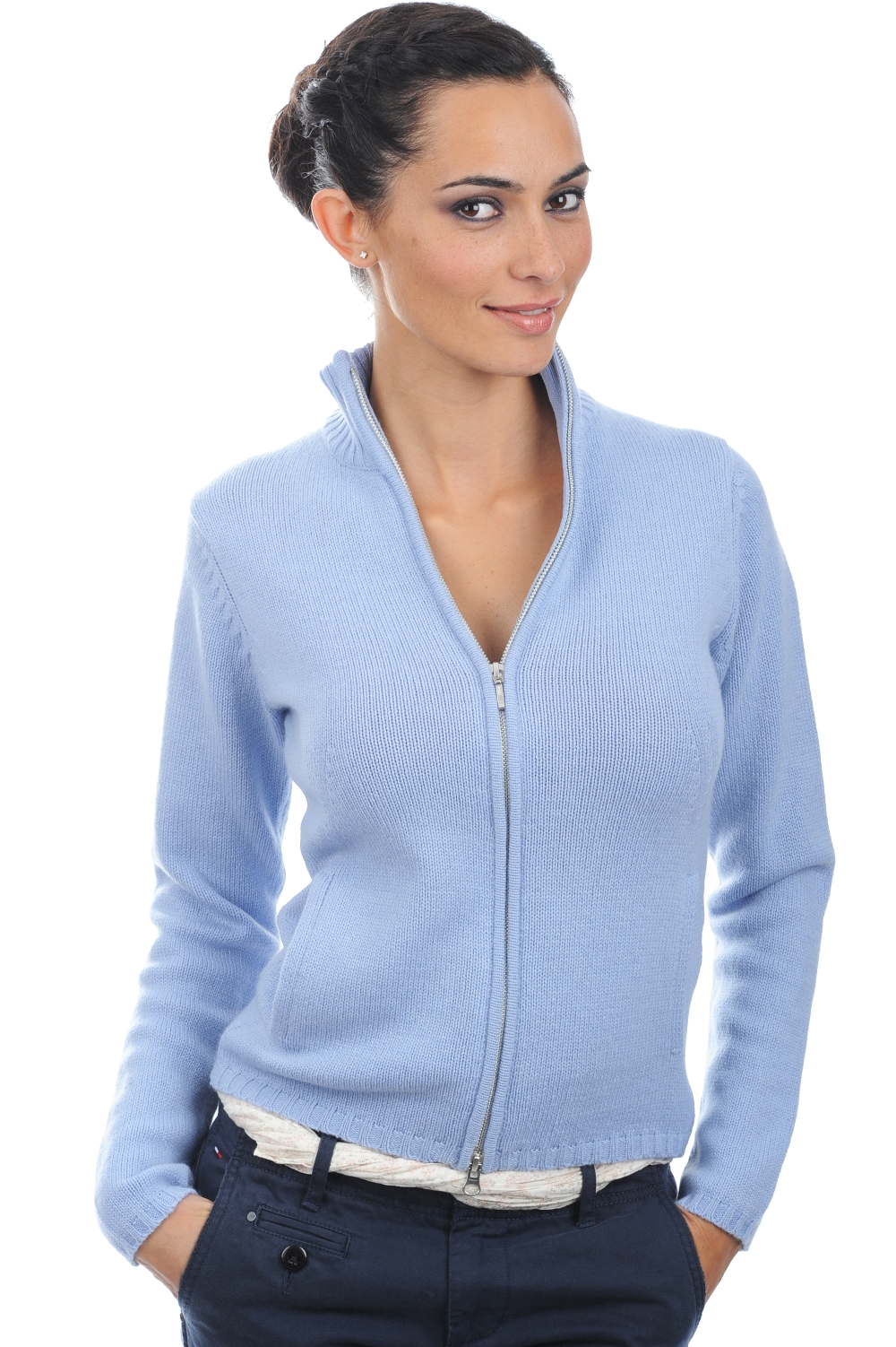 cashmere ladies cardigans elodie kentucky blue l