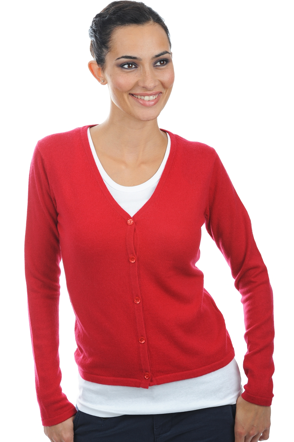 cashmere ladies cardigans ernestine blood red m