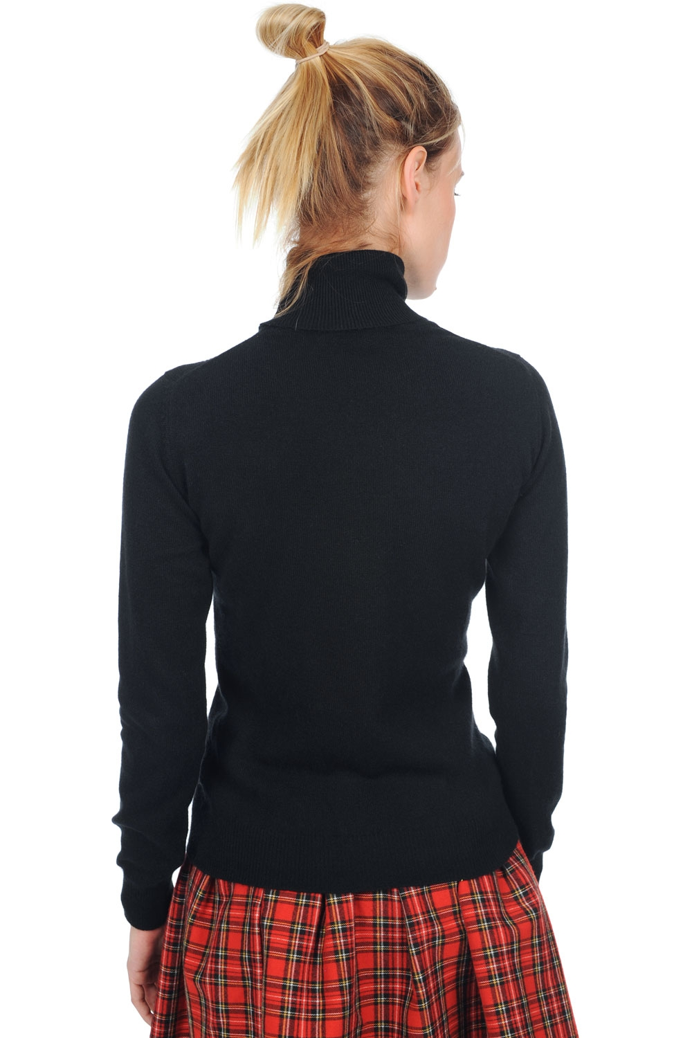cashmere ladies polo necks kassidy black s