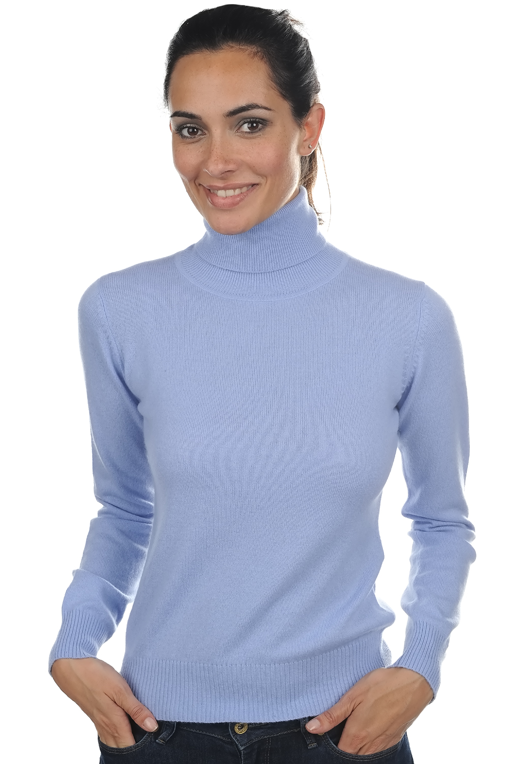 cashmere ladies polo necks lili kentucky blue xxxl