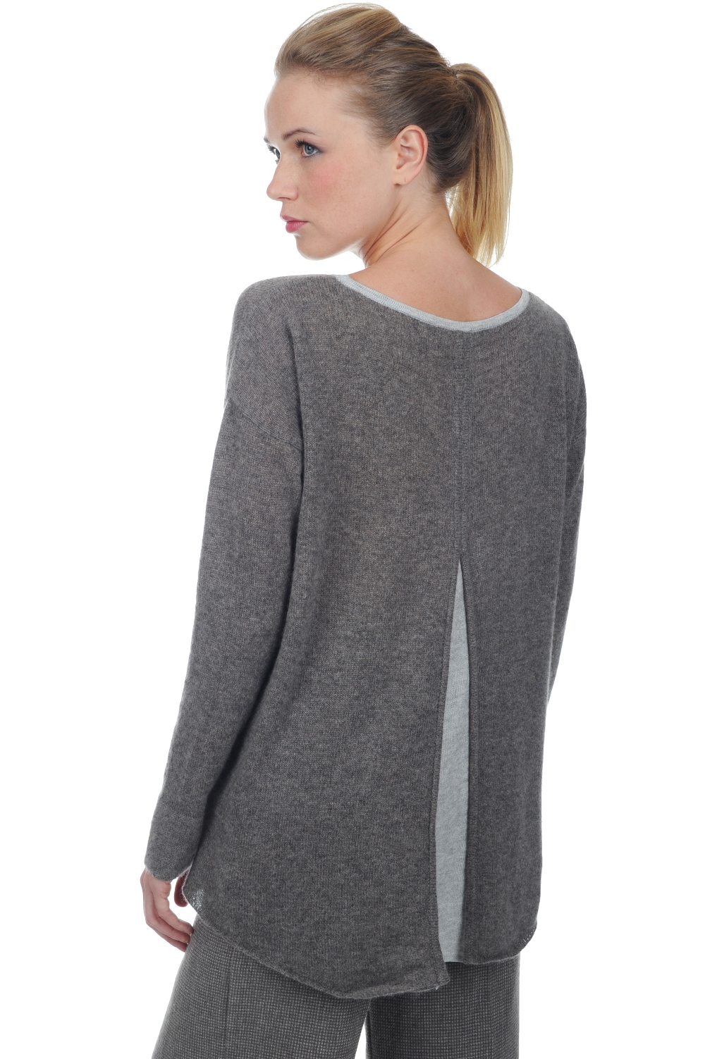 cashmere ladies round necks luce dove chine s1