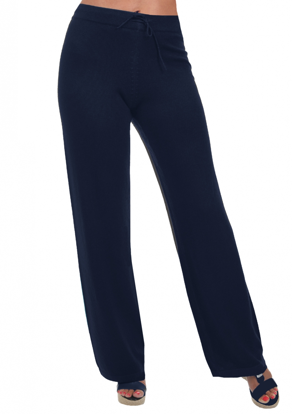 cashmere ladies trousers  leggings malice dress blue l