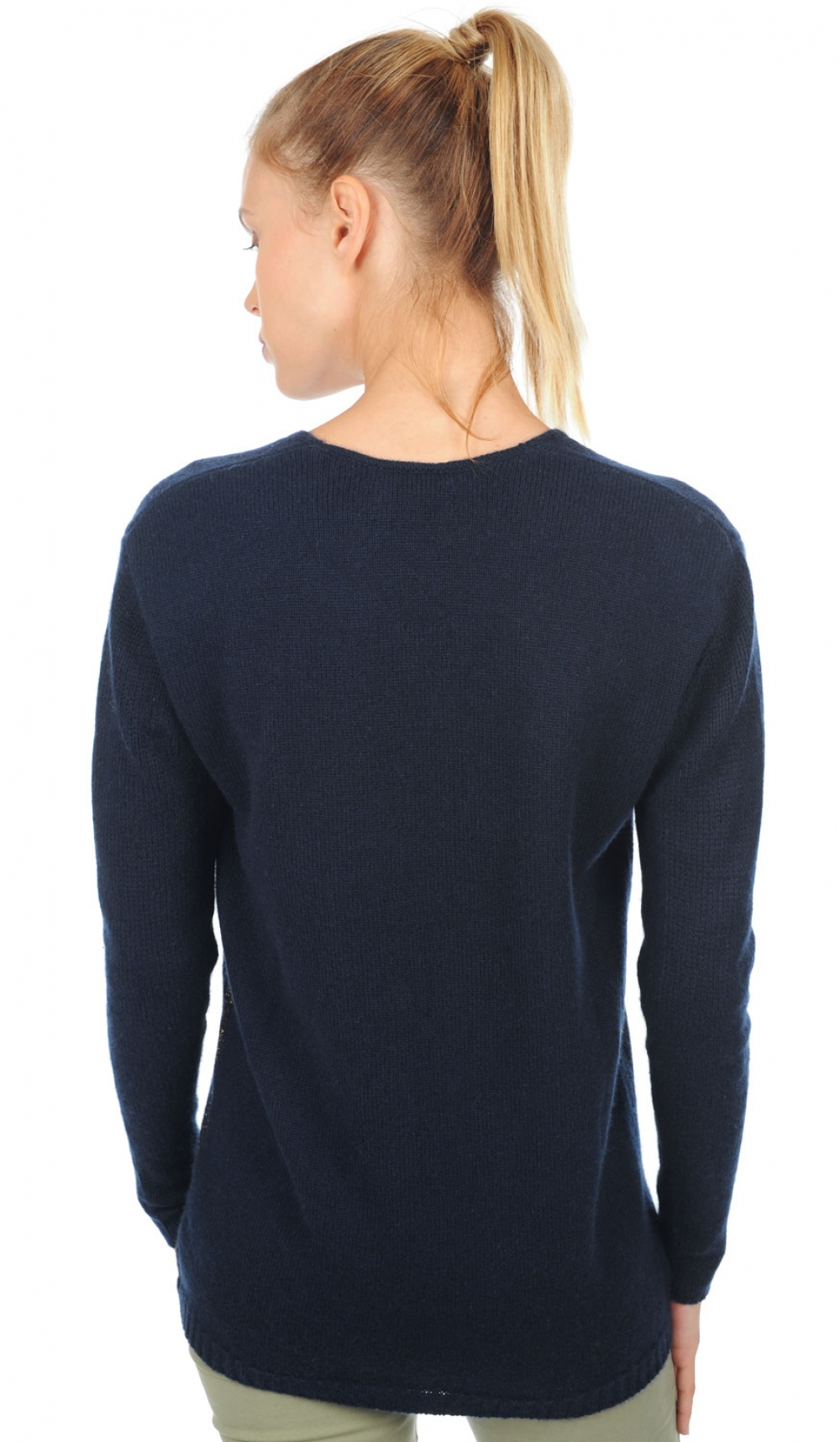 cashmere ladies v necks adalyn dress blue s