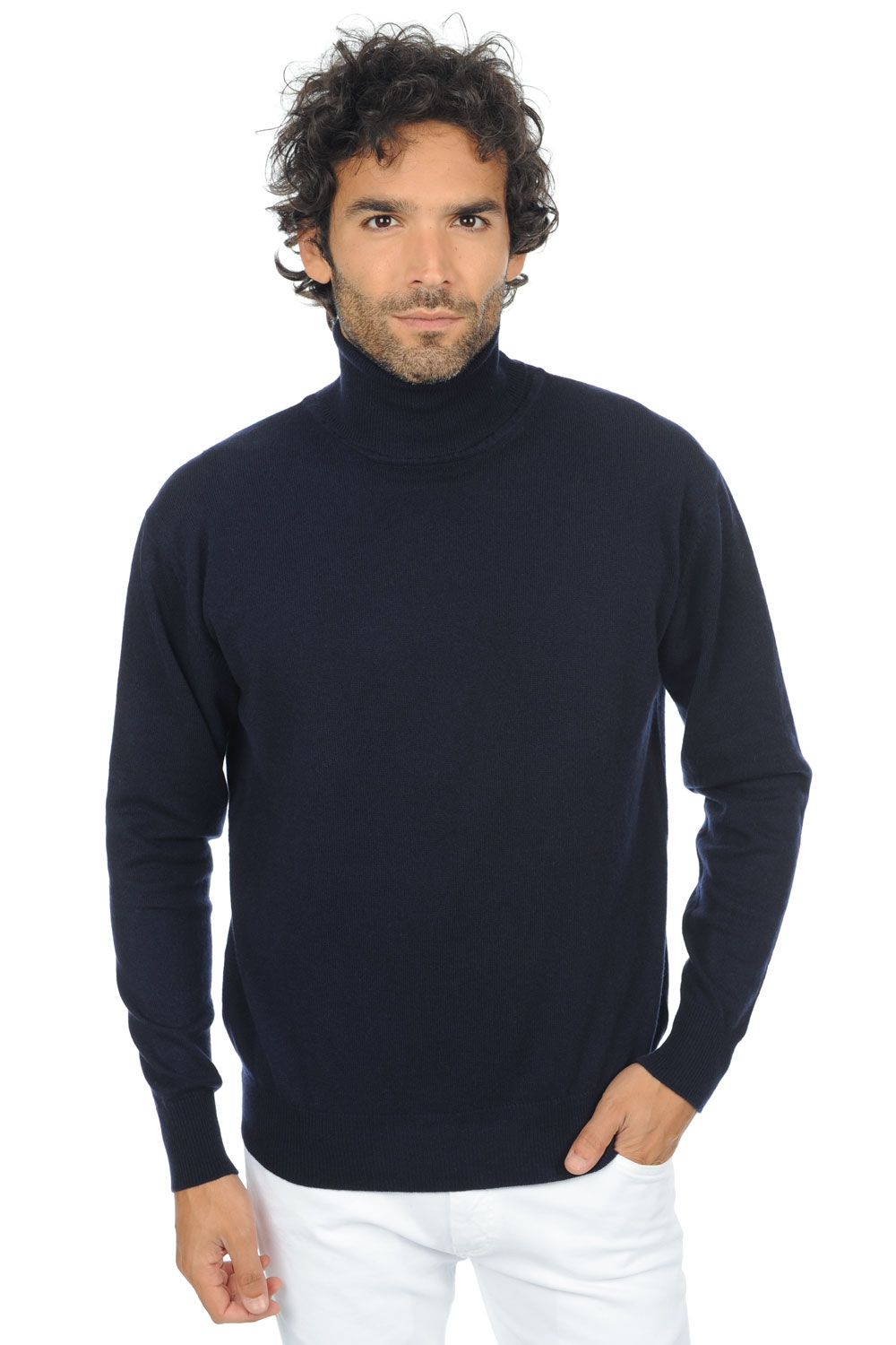 cashmere men polo necks edg premium premium navy l