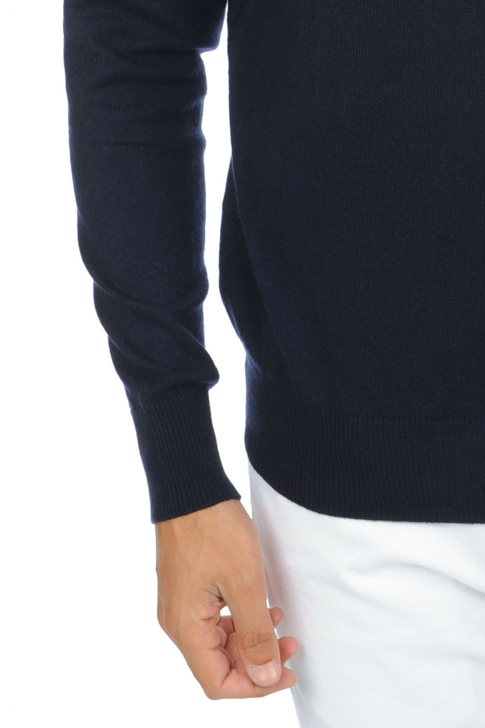 cashmere men polo necks edg premium premium navy m