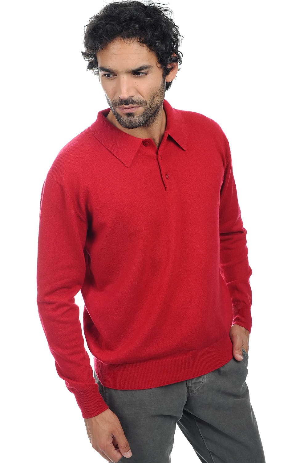 cashmere men polo style sweaters alexandre blood red m