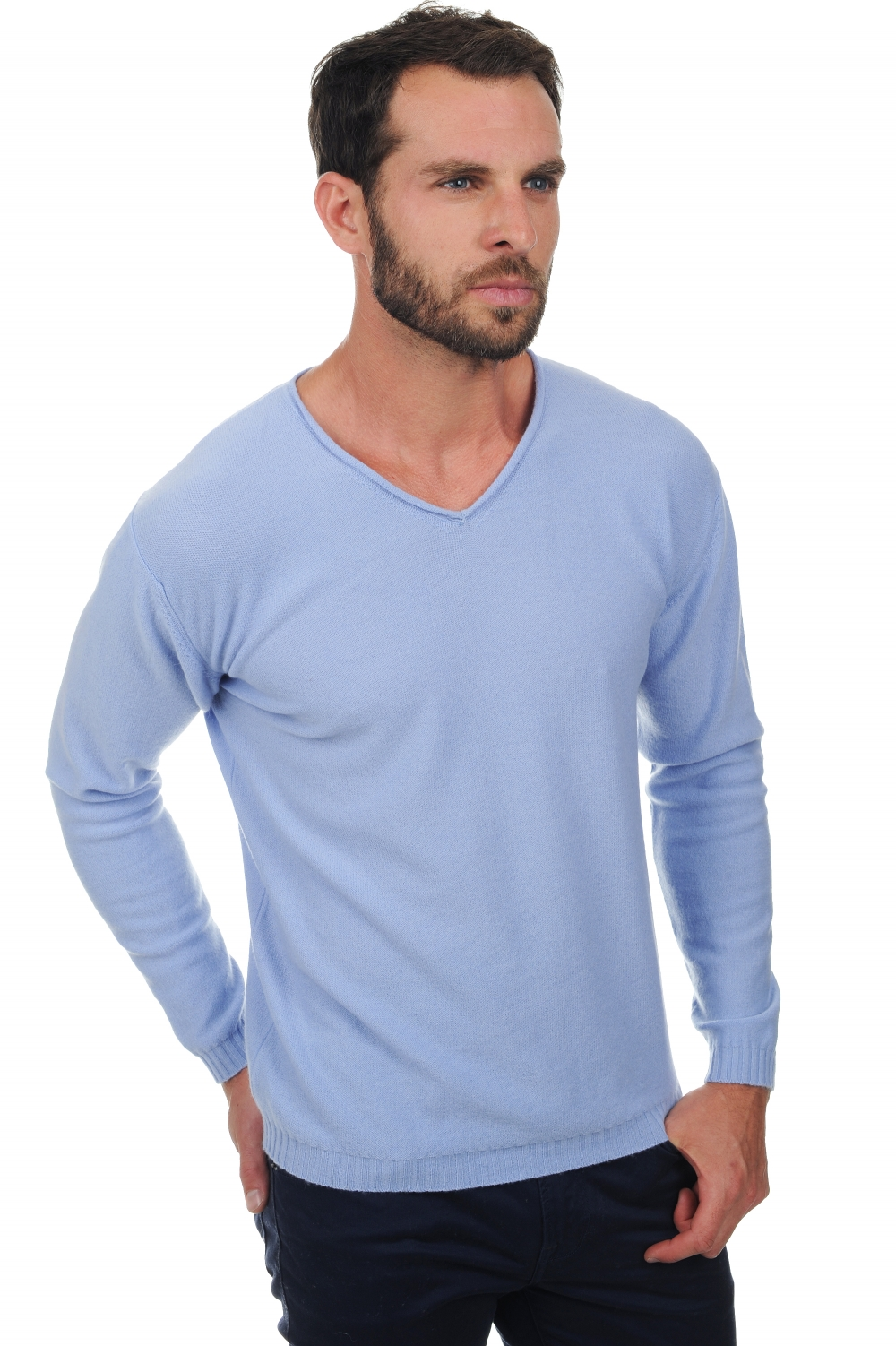 cashmere men v necks walt kentucky blue m
