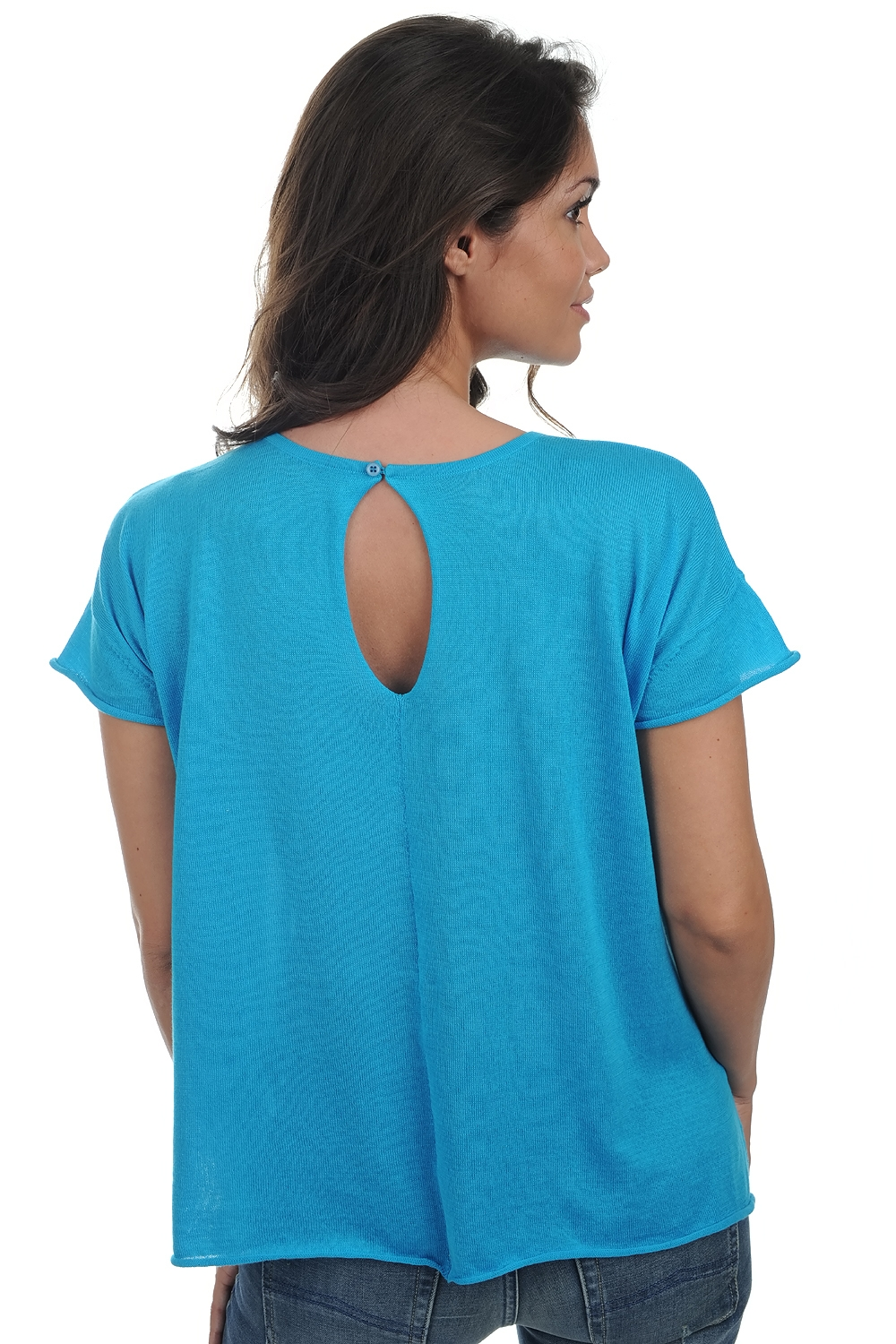 cotton giza 45 ladies round necks kimberley turquoise s2