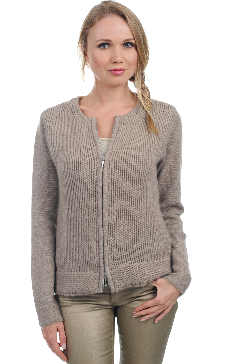 Adopt a cashmere look with a woman cardigan from Mahogany