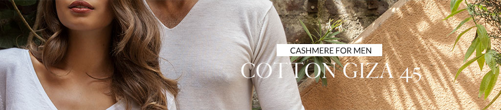 Cashmere for menCotton Giza 45